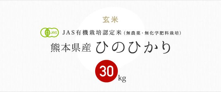 JAS有機栽培認定米 熊本県産ひのひかり