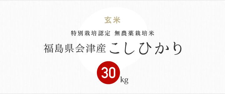 無農薬特別栽培米 福島県会津産産こしひかり