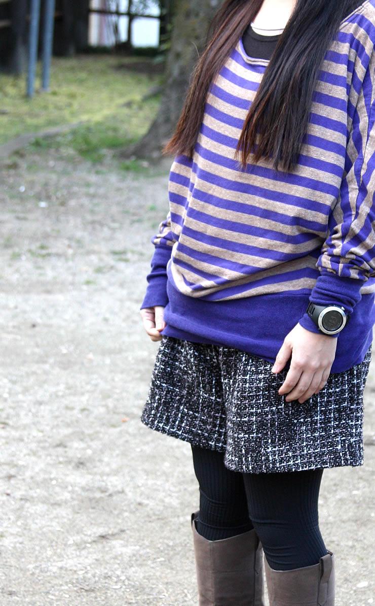 アウトドアウォッチ レディース 女性 着用イメージ アウトドアファッション