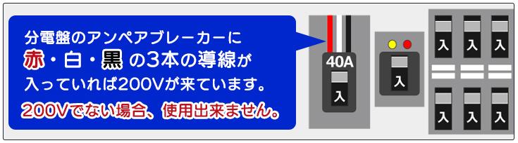 ご購入のエアコンとご自宅のコンセントをご確認下さい