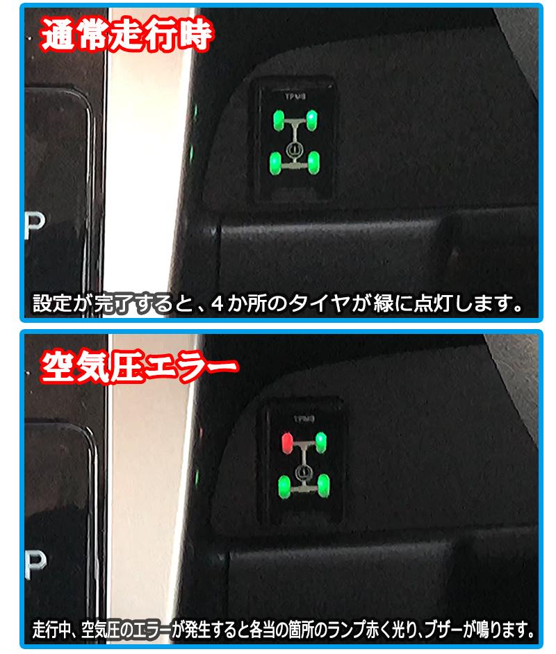 日産デイズ デイズルークス専用タイヤ空気圧監視警報システム モニター説明