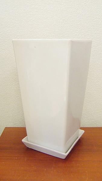 スクエアホワイト陶器鉢-L2