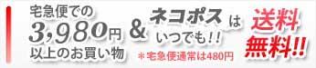 3,000円以上のお買い物&メール便 送料無料