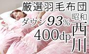 西川 羽毛布団 ホワイトダウン93%