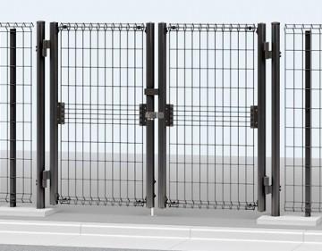 イーネット門扉シリーズ メッシュタイプのスチール製シリーズ。フェンスは傾斜地用も取り揃えました。