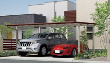 カーポート 駐車スペースの条件や、外構(エクステリア)のスタイルに合わせて、あなたにぴったりのカーポートを見つけてください。