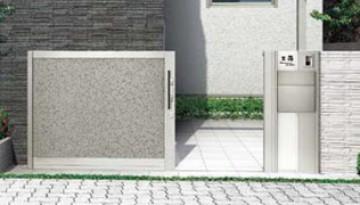 スライド門扉 門扉(引戸門扉)アプローチ階段下の設置など、引戸の引き込みスペースが十分取れない敷地にもお勧めです。