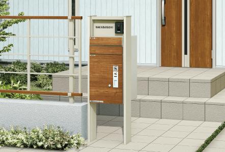 宅配ボックス ルシアス シリーズポールからウォールまで、多彩なラインナップが統一感のあるエントランス空間を演出。敷地条件や動線に合せて多彩なラインアップの中からお好みのアイテムをお選びいただけます。玄関ドア「ヴェナート」・「プロント」とのカラーコーディネイトが可能です。