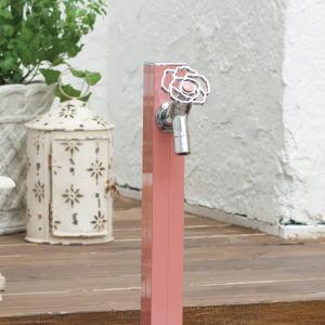 アクアルージュ オンリーワンクラブ|水栓柱4cm角の洗練されたスリムなデザインの水栓柱。かわいい花ハンドルやカラービスなど、オプションが充実した蛇口も好評です。