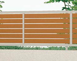 セレビューフェンス ンプルで洗練されたスタンダードフェンス RP3型は太横パネルタイプです