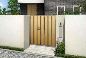 ルシアス門扉シリーズ 開口幅を広くとれる親子開きのサイズラインアップが充実したスタンダードな門扉。玄関ドアとのコーディネイトしやすさを考えた多彩なデザインラインアップです。