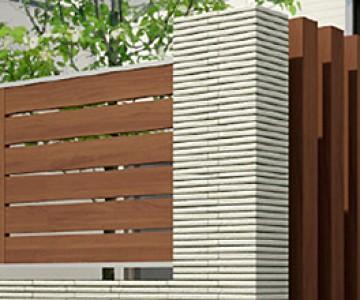 ジオーナフェンス 目隠し効果に加え、採風性、採光性に配慮したフェンス。玄関ドアを含め家の外観をトータルコーディネートできます。