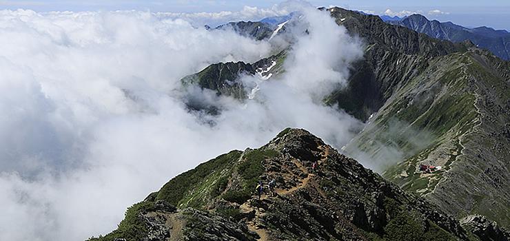 登山者に人気の白根三山