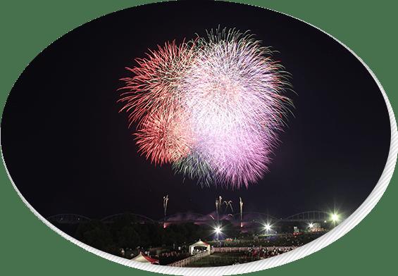 加古川まつり花火大会の様子
