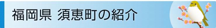 福岡県須恵町の紹介