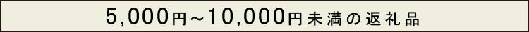 5000円〜10000円未満