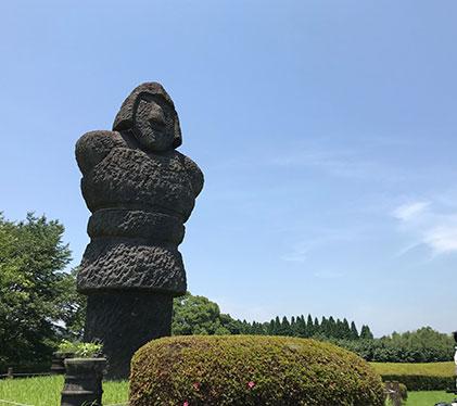 石造りの古代の兵士