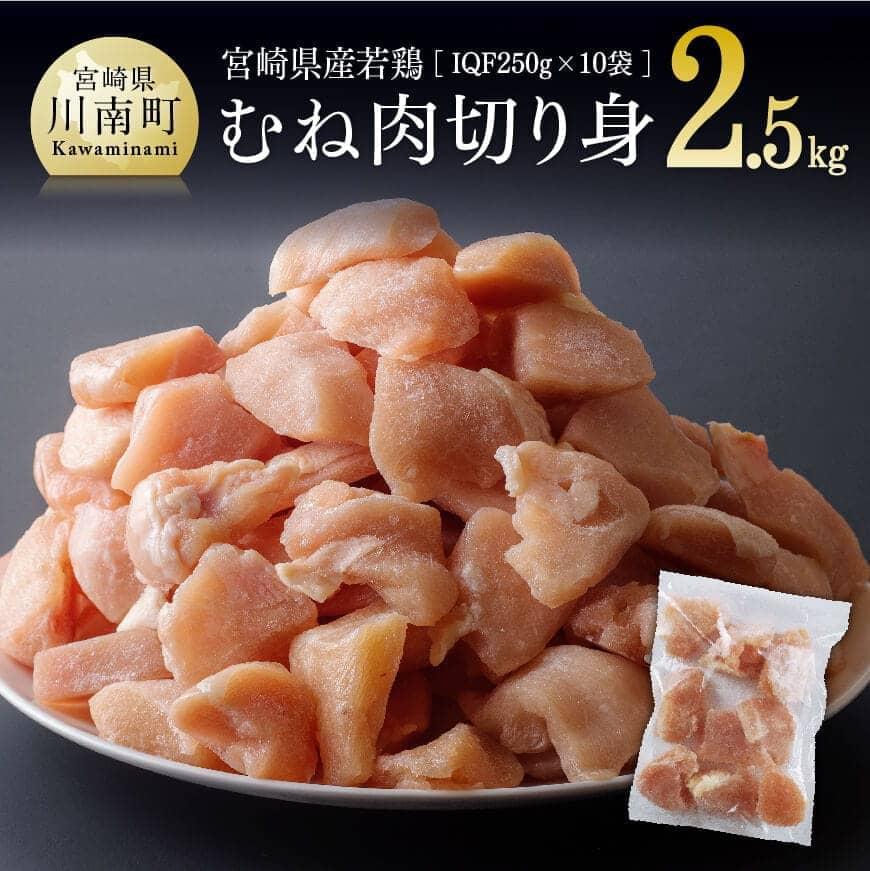 宮崎県産若鶏むね切身10袋
