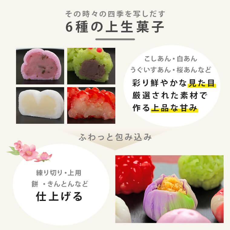 6種の上生菓子
