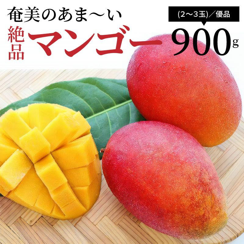 奄美のあま~い絶品マンゴー900g(2~3玉)/優品」