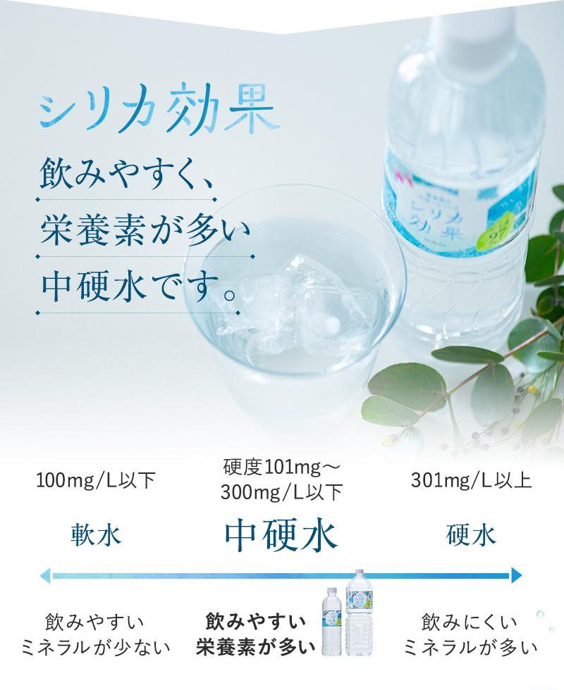 シリカ効果は飲みやすく栄養素が多い中硬水です