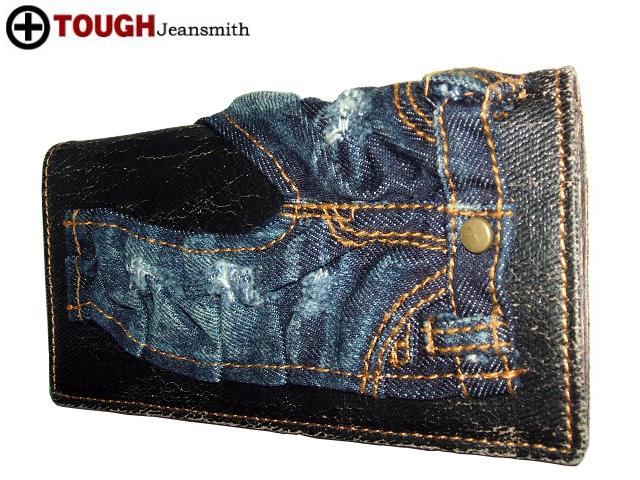 强壮[tough]牛仔裤钱包长钱包钱包男女兼用