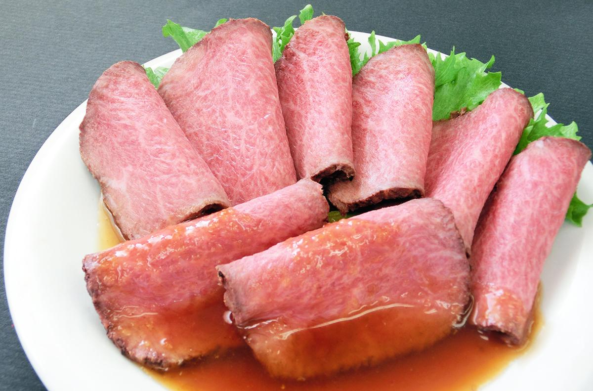 【牛肉】 黒毛和牛 ローストビーフ モモ 350g 冷凍 霜降華咲 / 税込 送料無料 即日発送 あす楽
