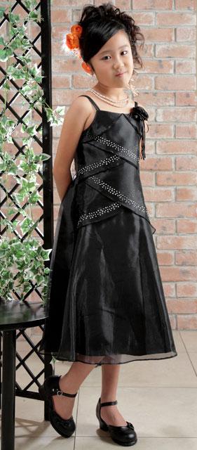 オーガンジードレス/ブラック
