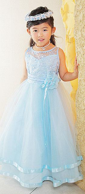 高級プリンセスドレス/ブルー