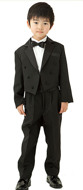 子供用燕尾服5点セット「黒」