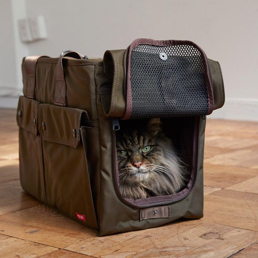 シンプルでシックなキャリーバッグ
