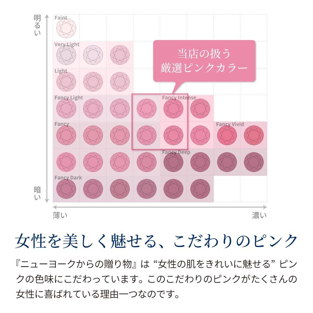 0.75カラット 一粒ピンク イヤリング レディース  プラチナ 加工 レディース 金属アレルギー