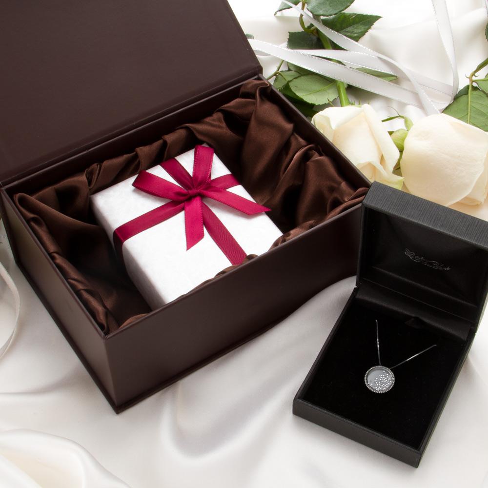 フローティング クリスタルネックレス  シルバー925 ニューヨーク限定 日本未発売