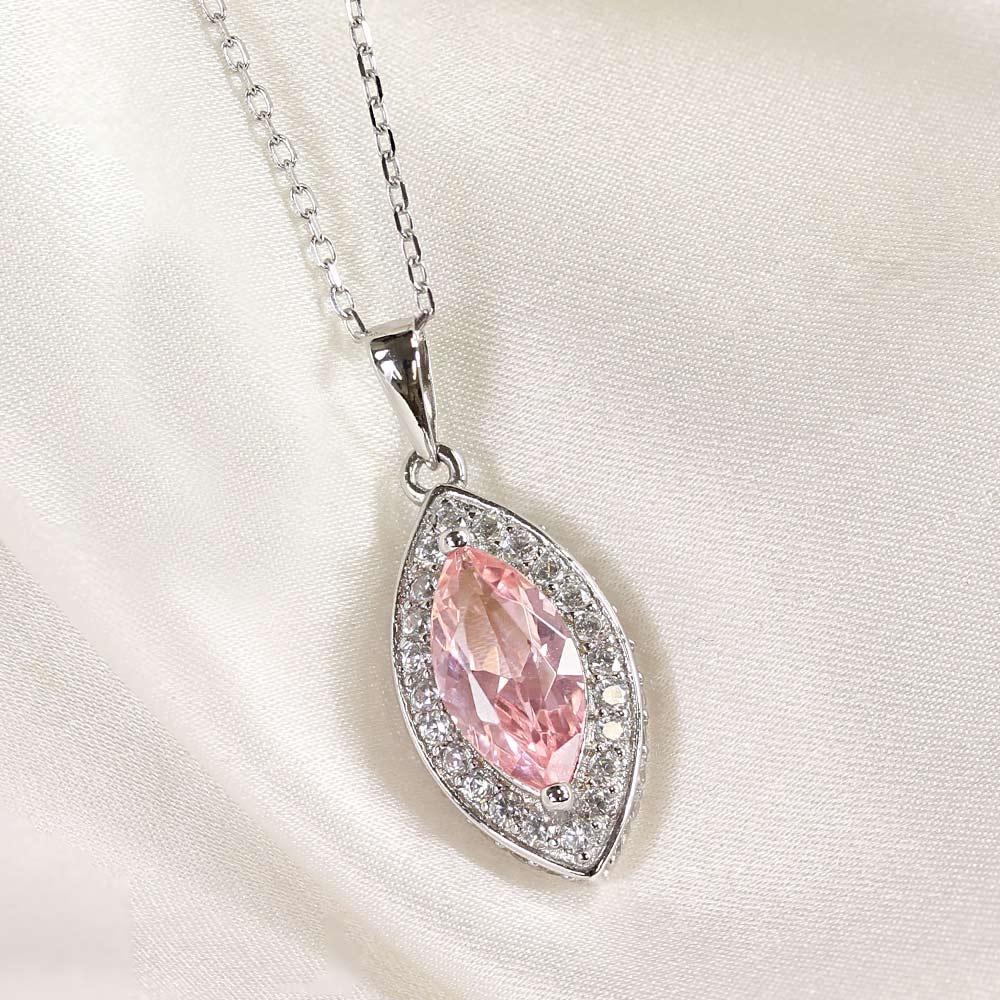 ピンク トパーズ マーキスカット ネックレス シルバー925 ニューヨーク限定 日本未発売 ジュエリー
