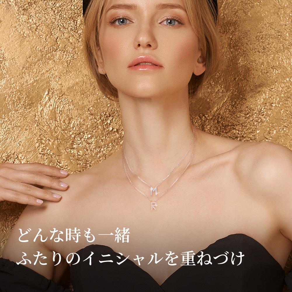 イニシャルネックレス ニューヨーク限定 デザイナーズ 日本未発売 ジュエリー
