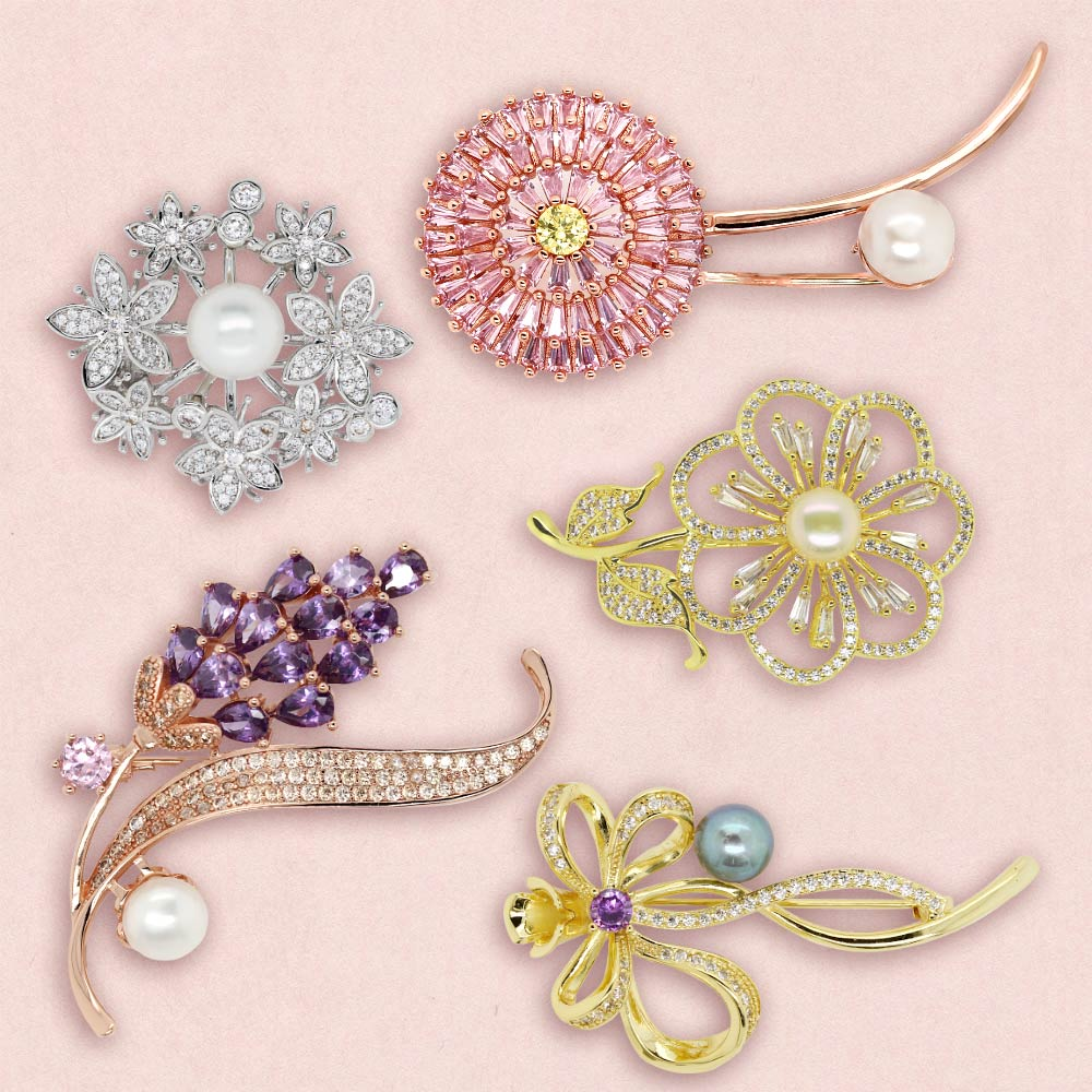 Everyday Brooches ブローチ 5種