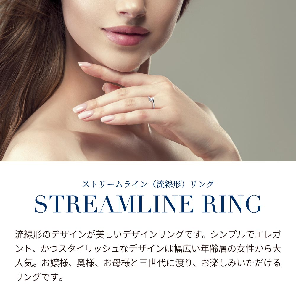 Streamline ストリームライン デザイナーズ リング シルバー925 プラチナ コーティング 加工 レディース 金属アレルギー