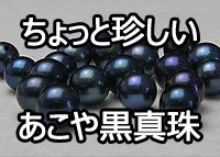 ちょっと珍しい「あこや黒真珠」