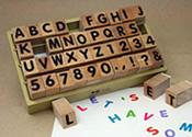 アルファベットスタンプセット