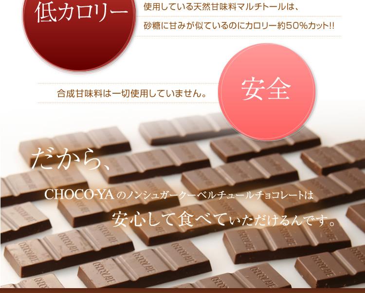 低カロリー 合成甘味料不使用 チョコレート