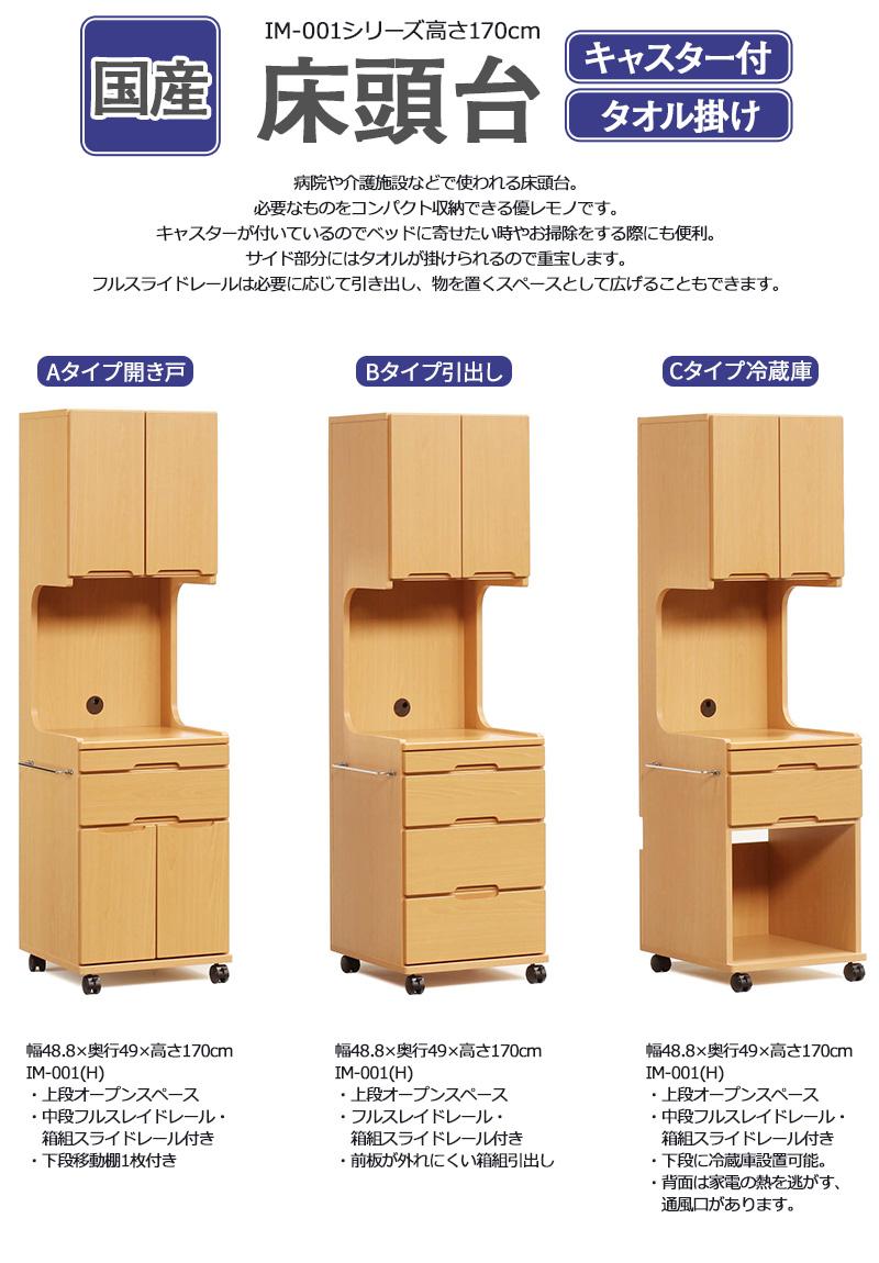 病院や介護のシーンで役立つ収納家具です。