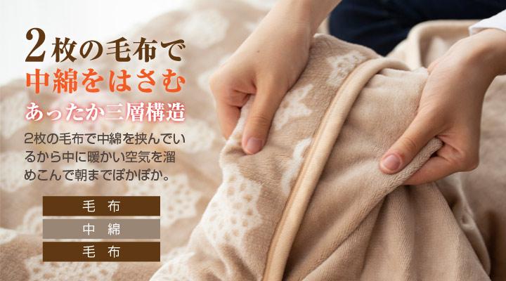 シープボア毛布