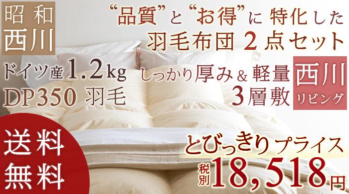 羽毛布団セット 昭和羽毛 リビング敷き 46590