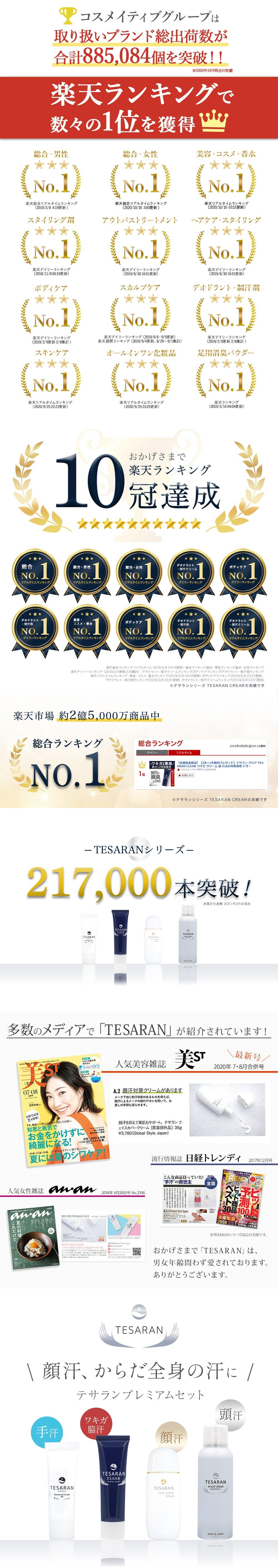 テサランシリーズ豪華セット!TESARANは男女年齢問わず愛されております。ありがとうございます。
