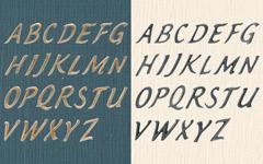 アンティーク調真鍮製の切り文字、ハウス・レター