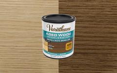 木材の風化を再現する水性エイジング塗料。