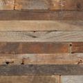 厚み10mmの無垢古材薄板。材種・風合いのミックス感が魅力。