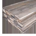 広葉樹3種の古材厚板