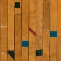 体育館で実際に使われていた古材フローリング