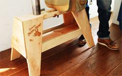 バローブランド製。木製作業台 踏み台タイプ